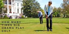 How many times did Obama play golf