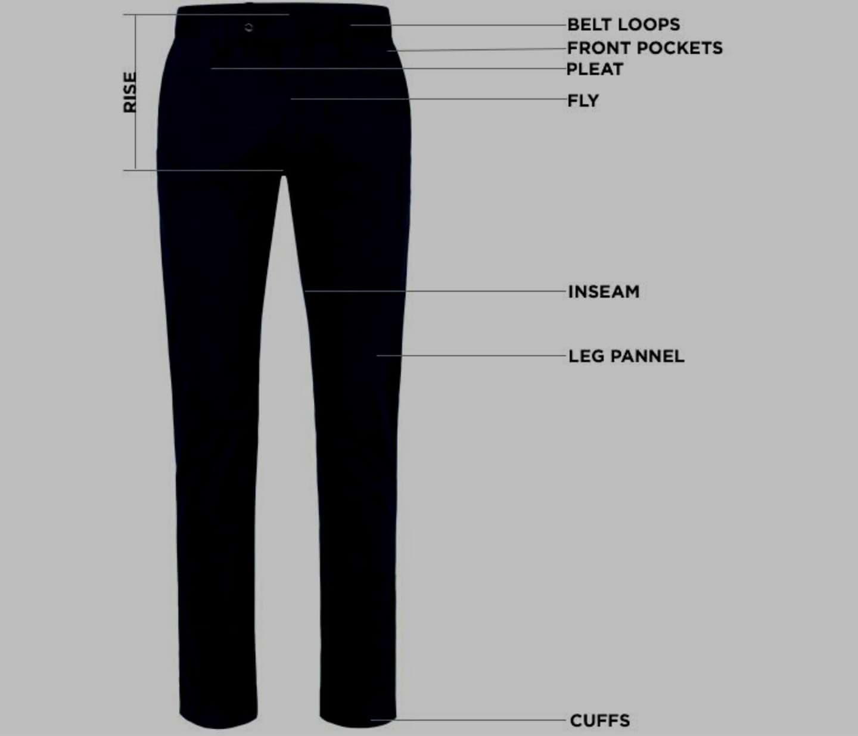 golf pant size