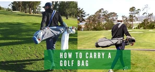 How to carry a golf bag and know how clean your golf bag