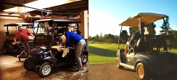 how to clean golf cart seats