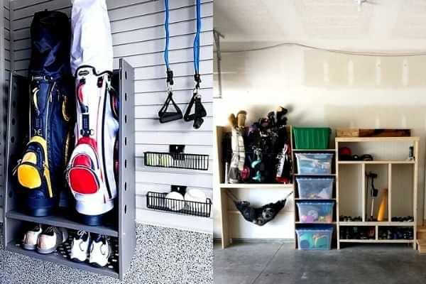 Golf club storage ideas
